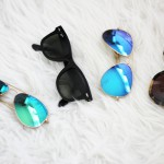 trend: Ray-Ban mirrored aviators