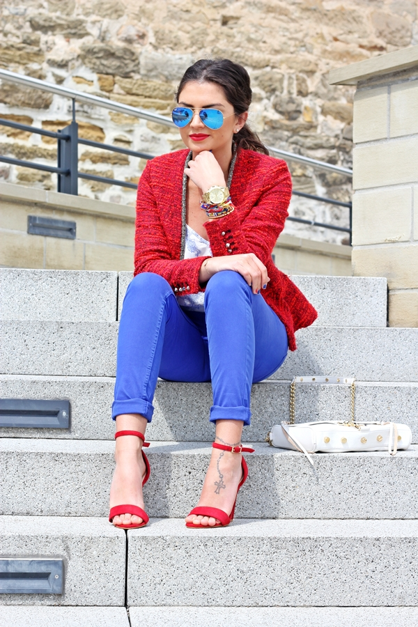 Outfit Red And Blue Fashionhippieloves