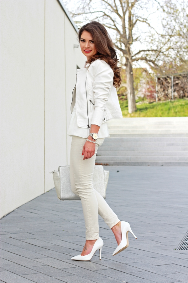 outfit all white and silver details fashionhippieloves