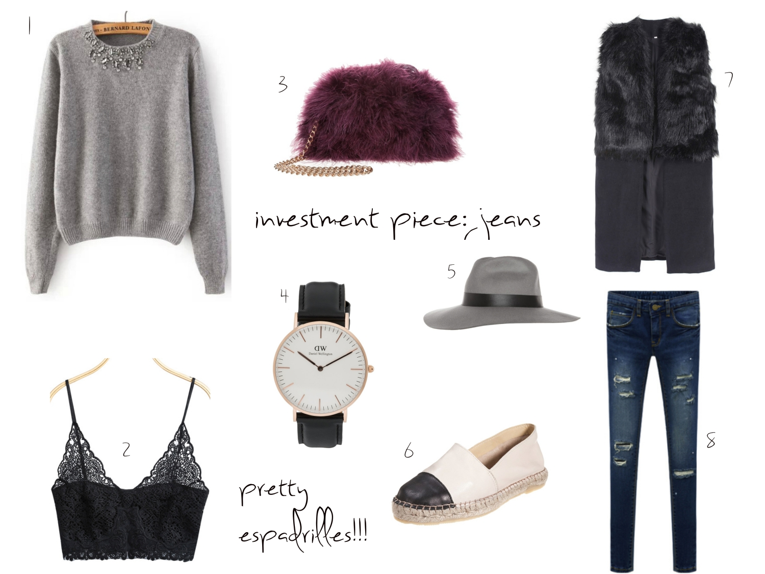 outfit-collage-details-ripped-jeans-winter-style