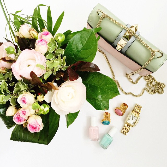 valentino-glam-lock-bag-watercolor-pastels-forzieri-michaelkors-watch-ysl-arty-rings-essie
