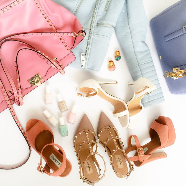 valentino-rockstud-bag-kitten-heels-pastel-spring-items-missguided-sandals-essie-nailpolishes-purificaciongarcia-bag-zara-mint-leather-jacket