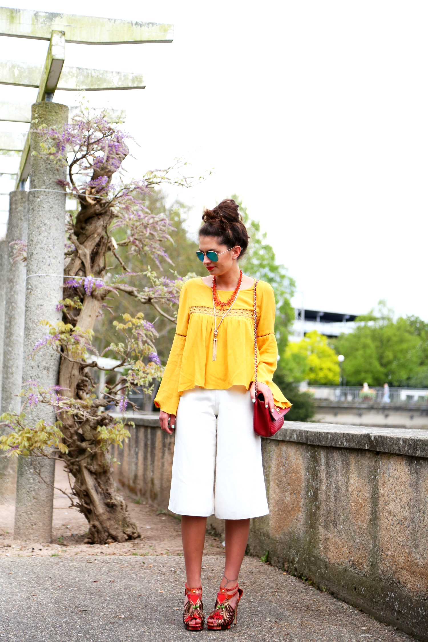 outfit-culottes-fashionhippieloves-yellow-hm-blouse