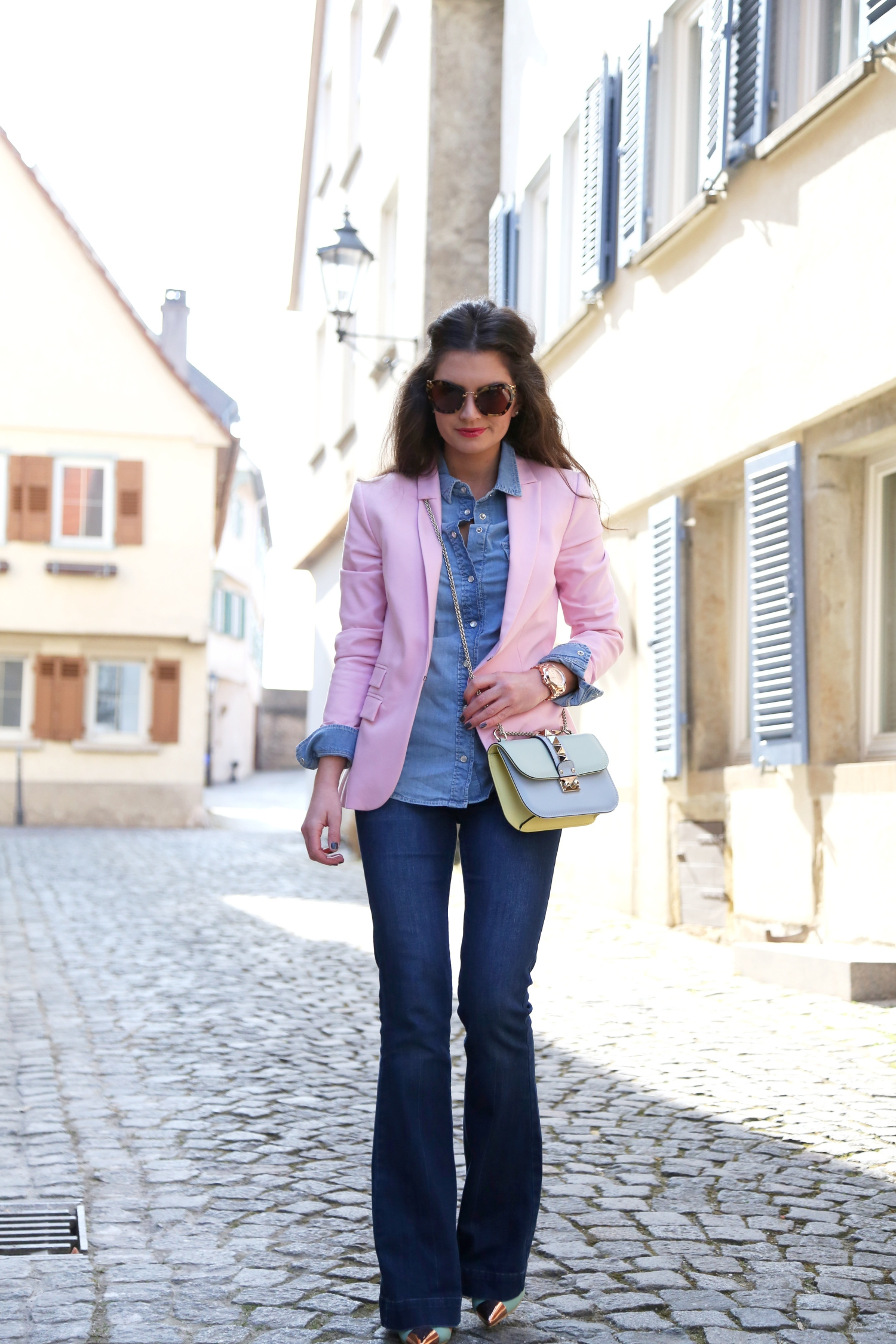 Outfit: Flared Jeans