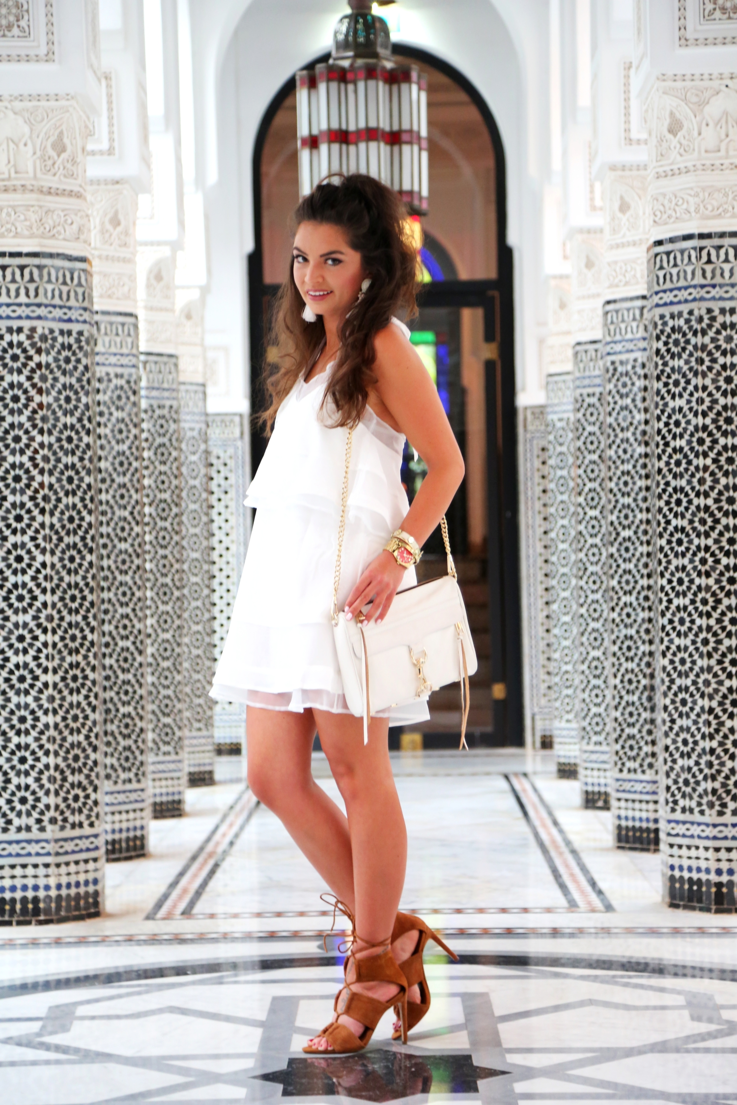 outfit-white-dress-lamamounia-marrakech