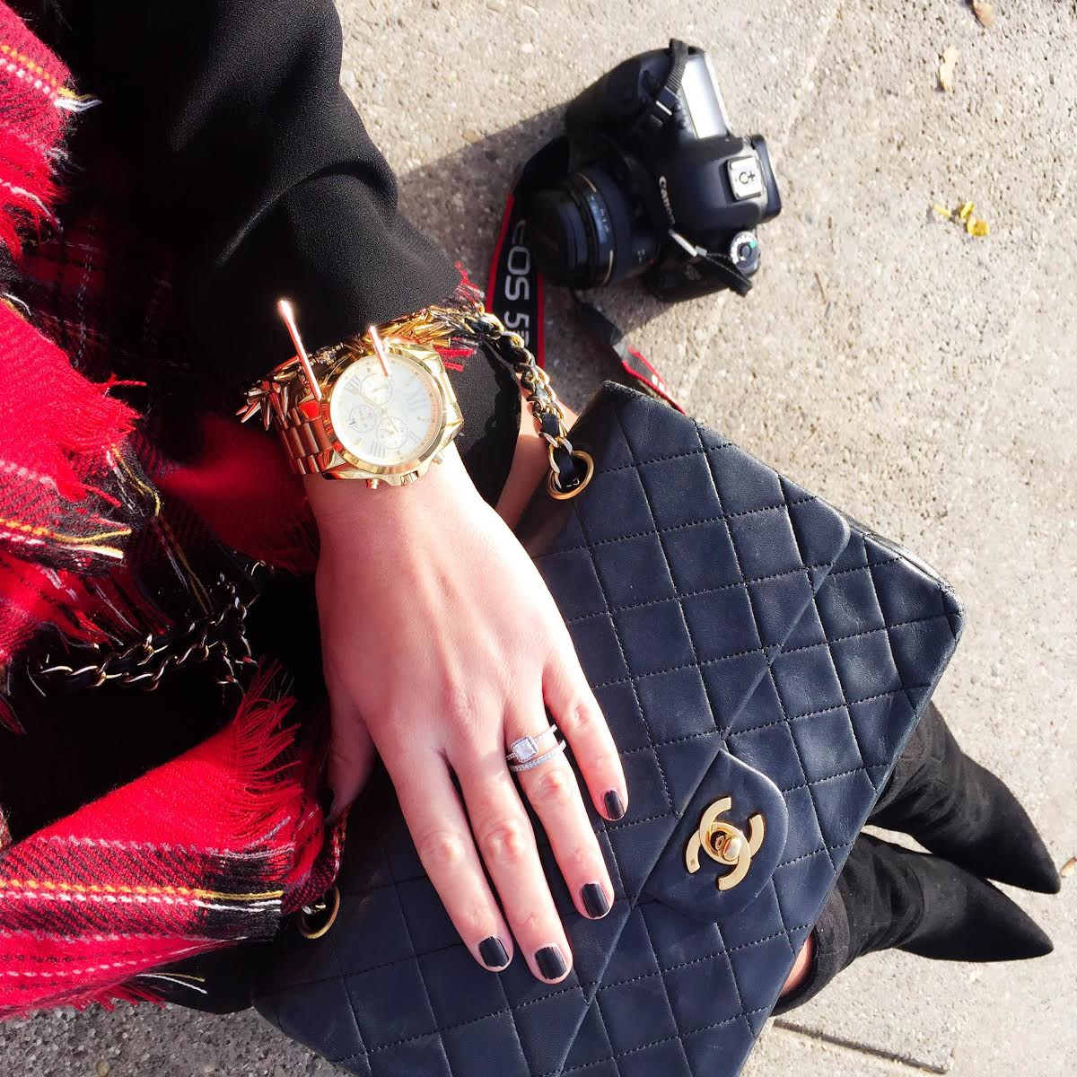 outfit-details-chanel-bag-michaelkors-watch