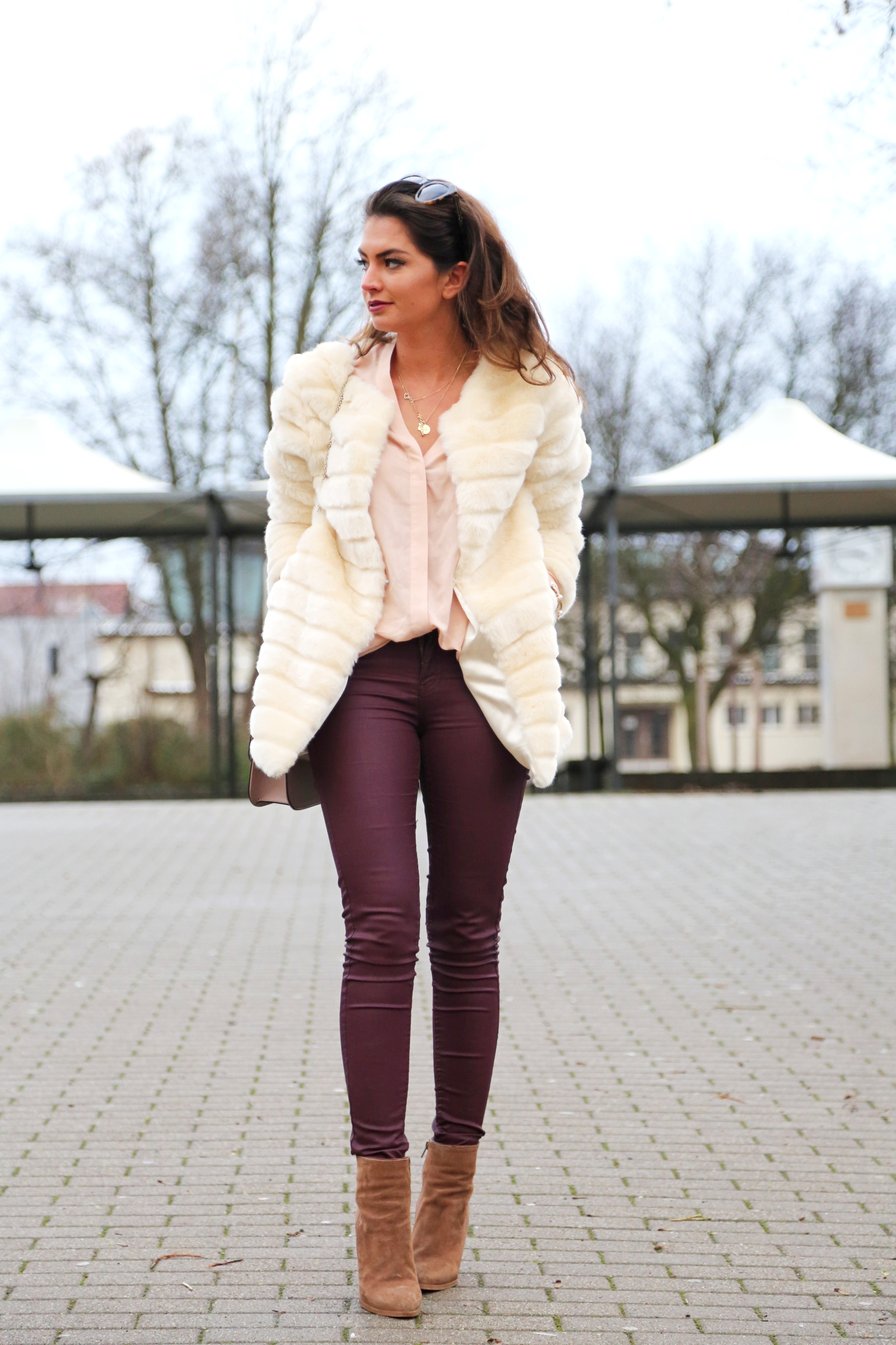 outfit-fashionhippieloves-faux-fur-coat-burgundy-leather-jeans-
