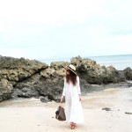 on Bali with my white maxi dress