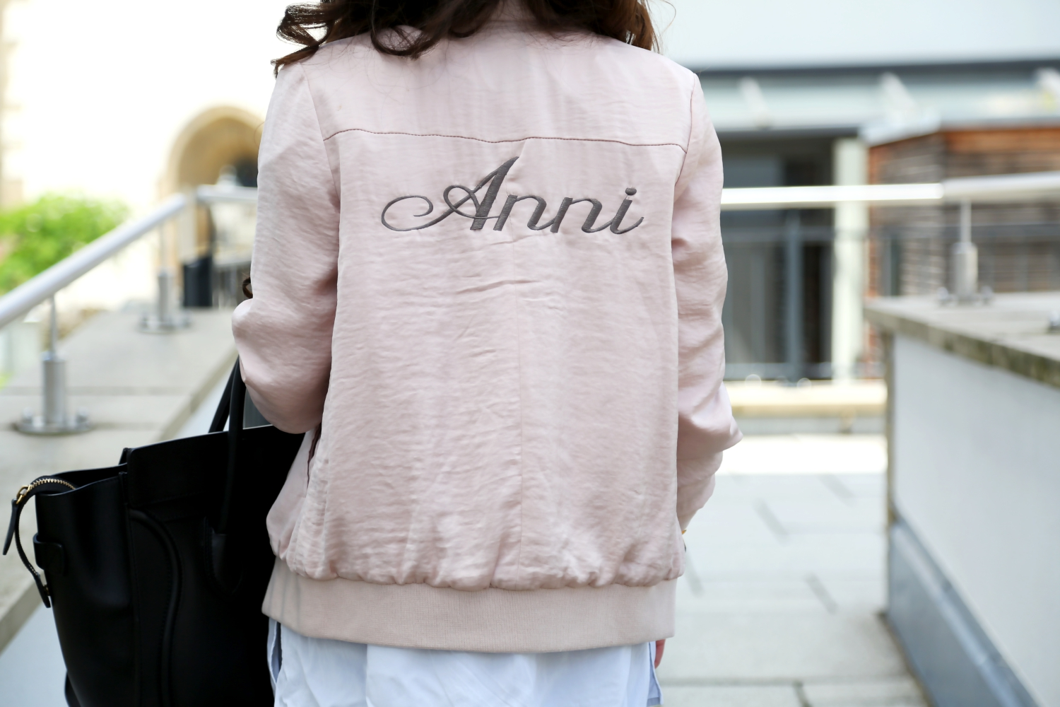outfit-details-celine-luggage-bag-edited-blouse-pink-bomber-jacket-satin