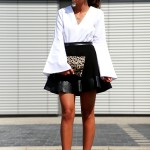 outfit: Black,white,red and a touch of leo