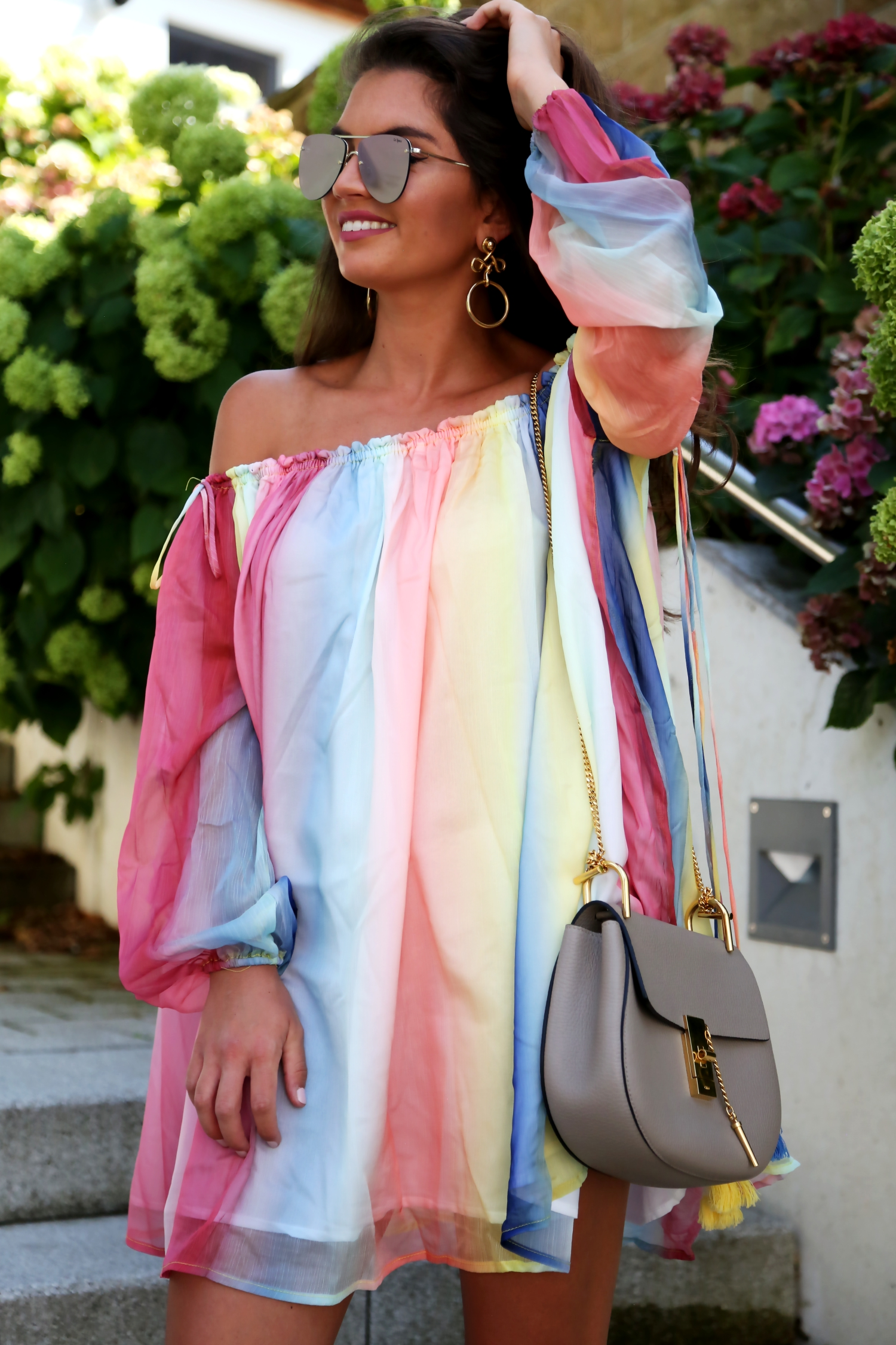 outfit-details-multi-watercolor-dress-chloe-drew-bag