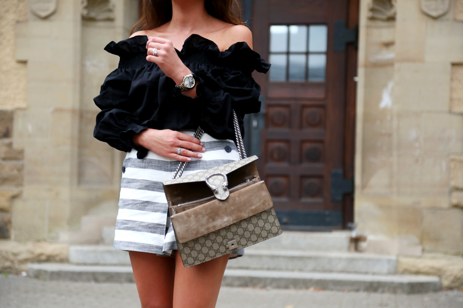 outfit-edited-shorts-mlm-label-off-shoulder-top