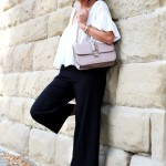 outfit: culotte , Glam lock bag and my Miu Miu Ballerinas