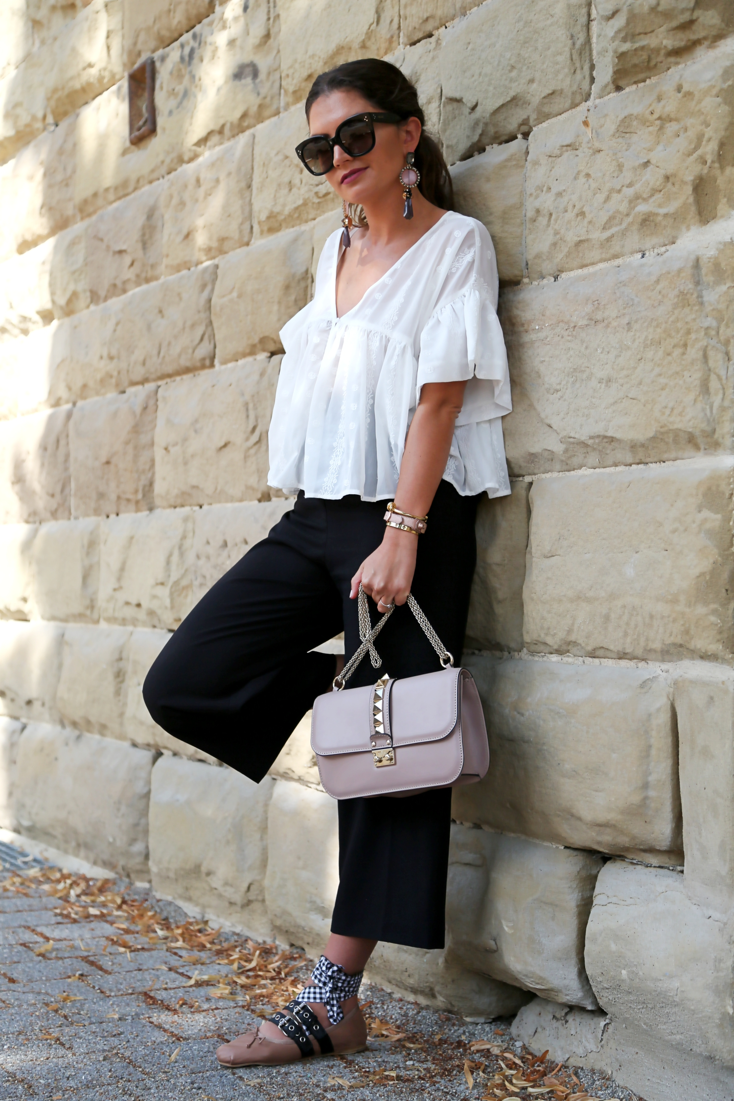 outfit culotte glam lock bag and my miu miu ballerinas fashionhippieloves. Black Bedroom Furniture Sets. Home Design Ideas