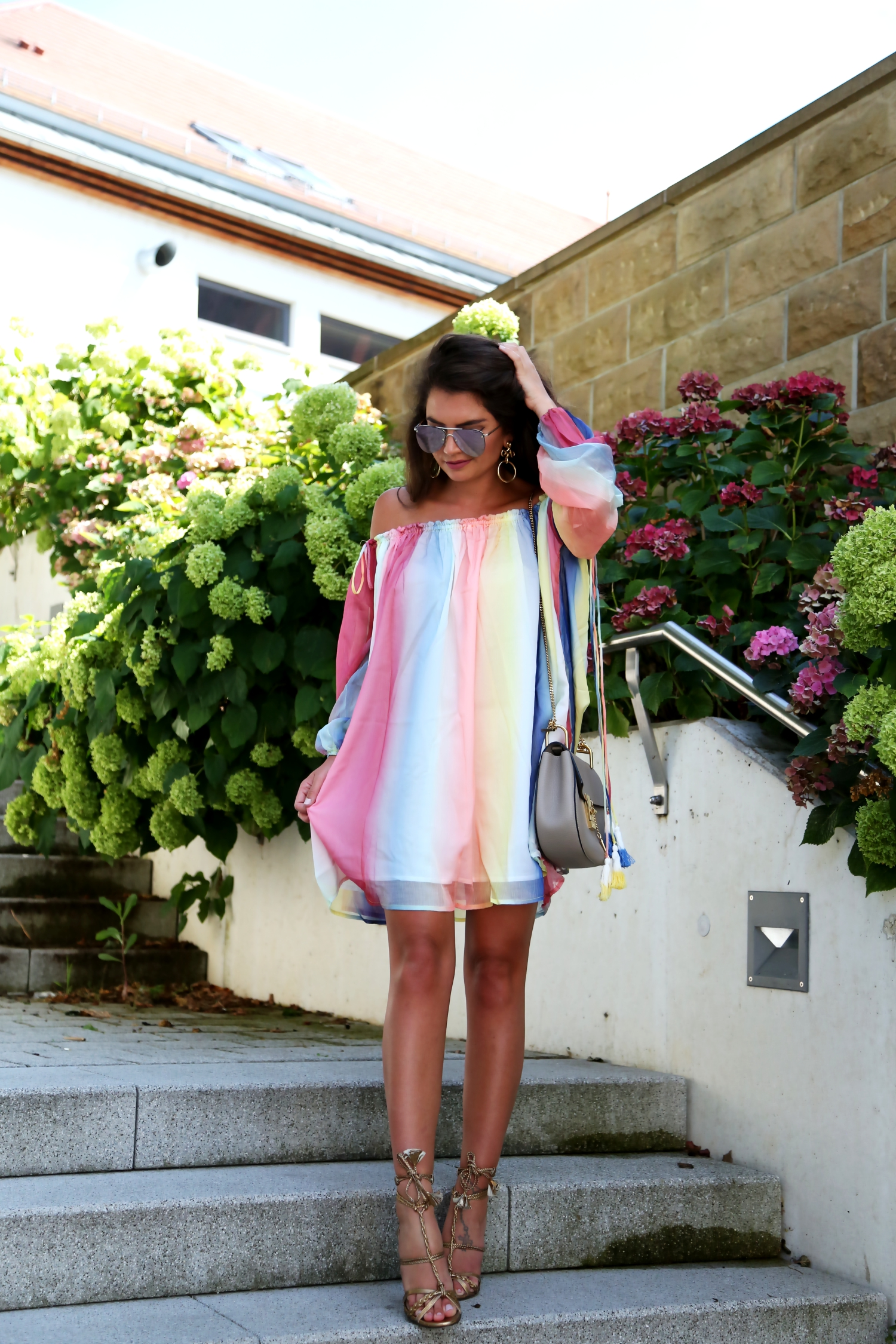 outfit-watercolor-dress-chloe-drew-bag-summer-look