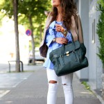 outfit: ripped jeans, rockstud pumps and Pashli bag