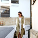 white and khaki layers