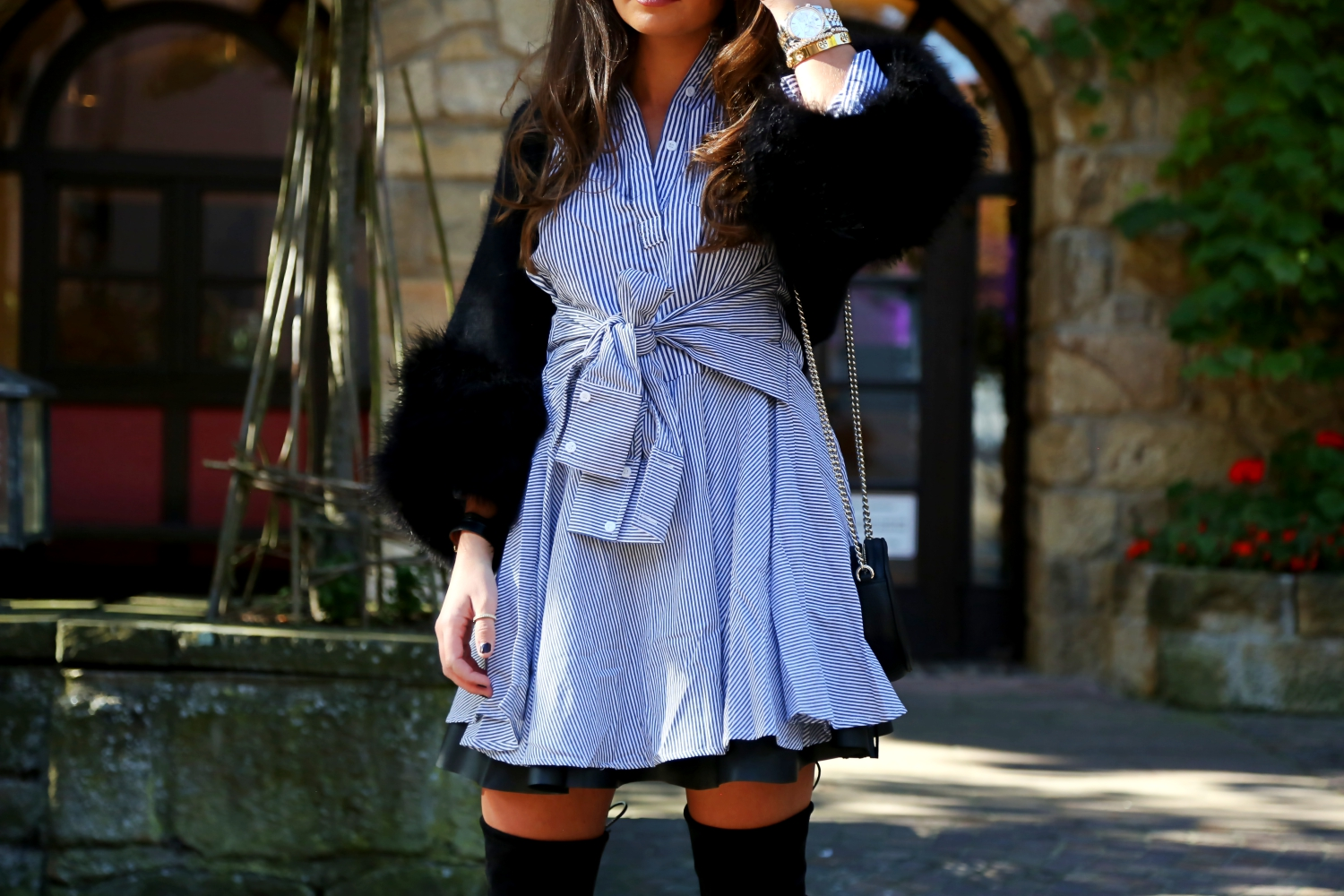outfit-fall-look-overknees-dress-skirt-stripes