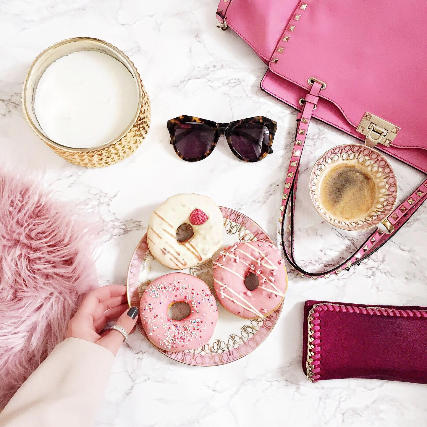 donut-valentino-rockstud-bag-coffee-table