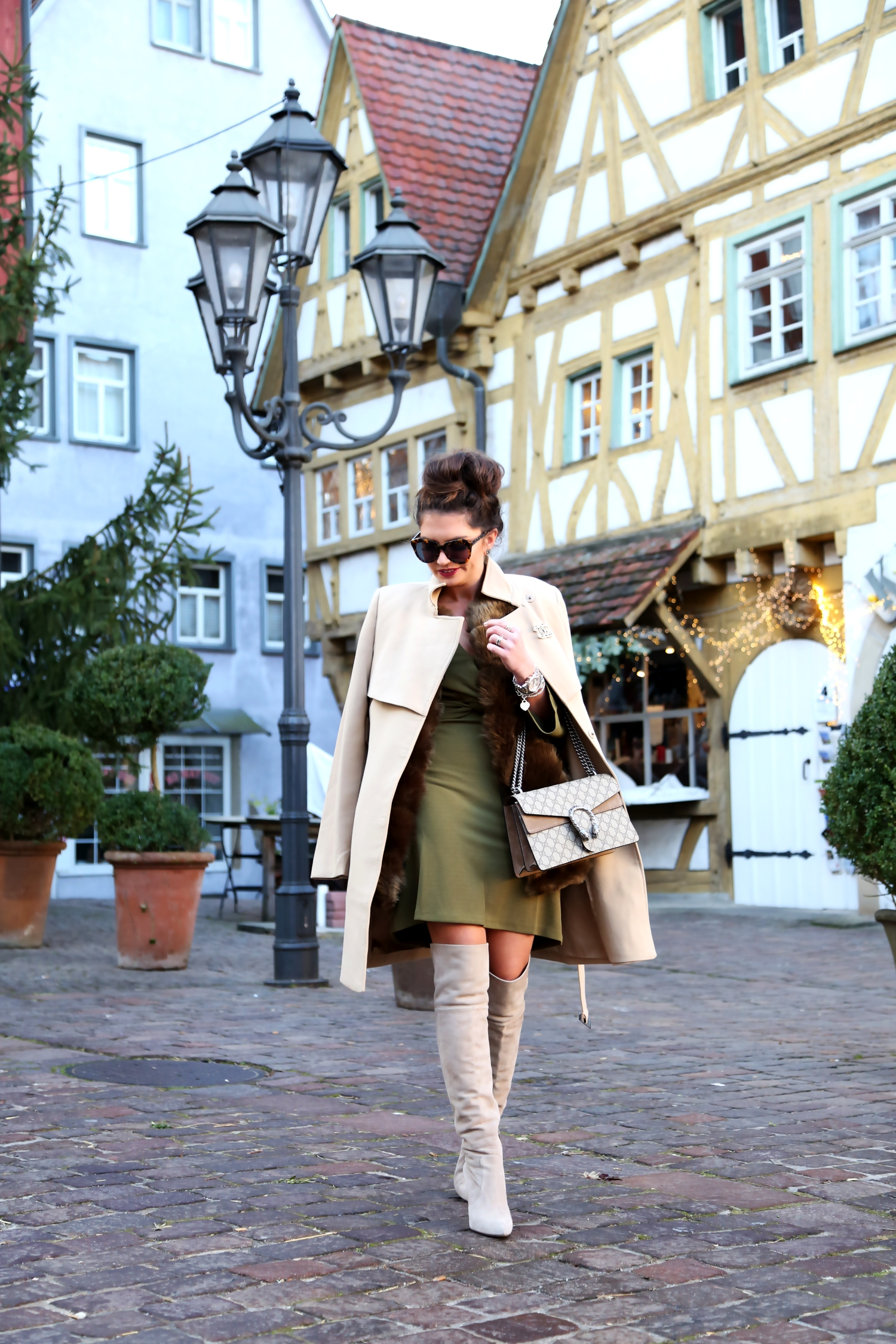 outfit-chanel-brooch-edited-dress-camel-khaki