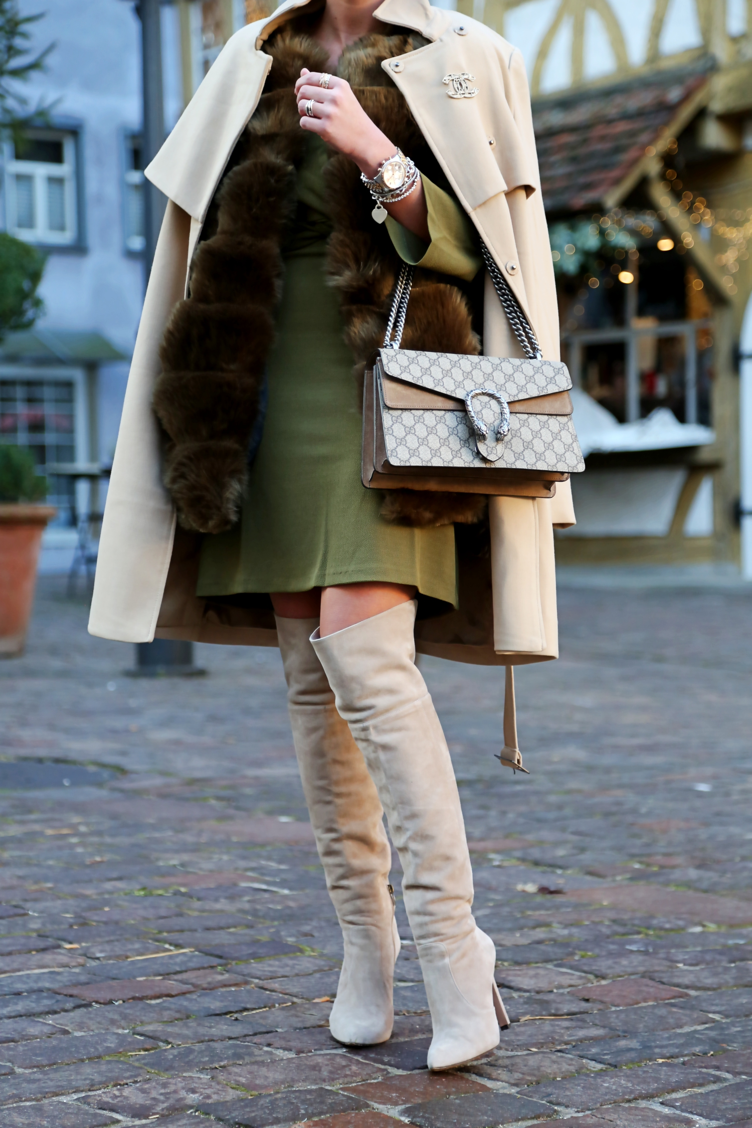outfit-edited-dress-pura-lopez-overknees-camel-coat-gucci-bag