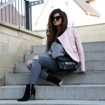 outfit: grey and pink
