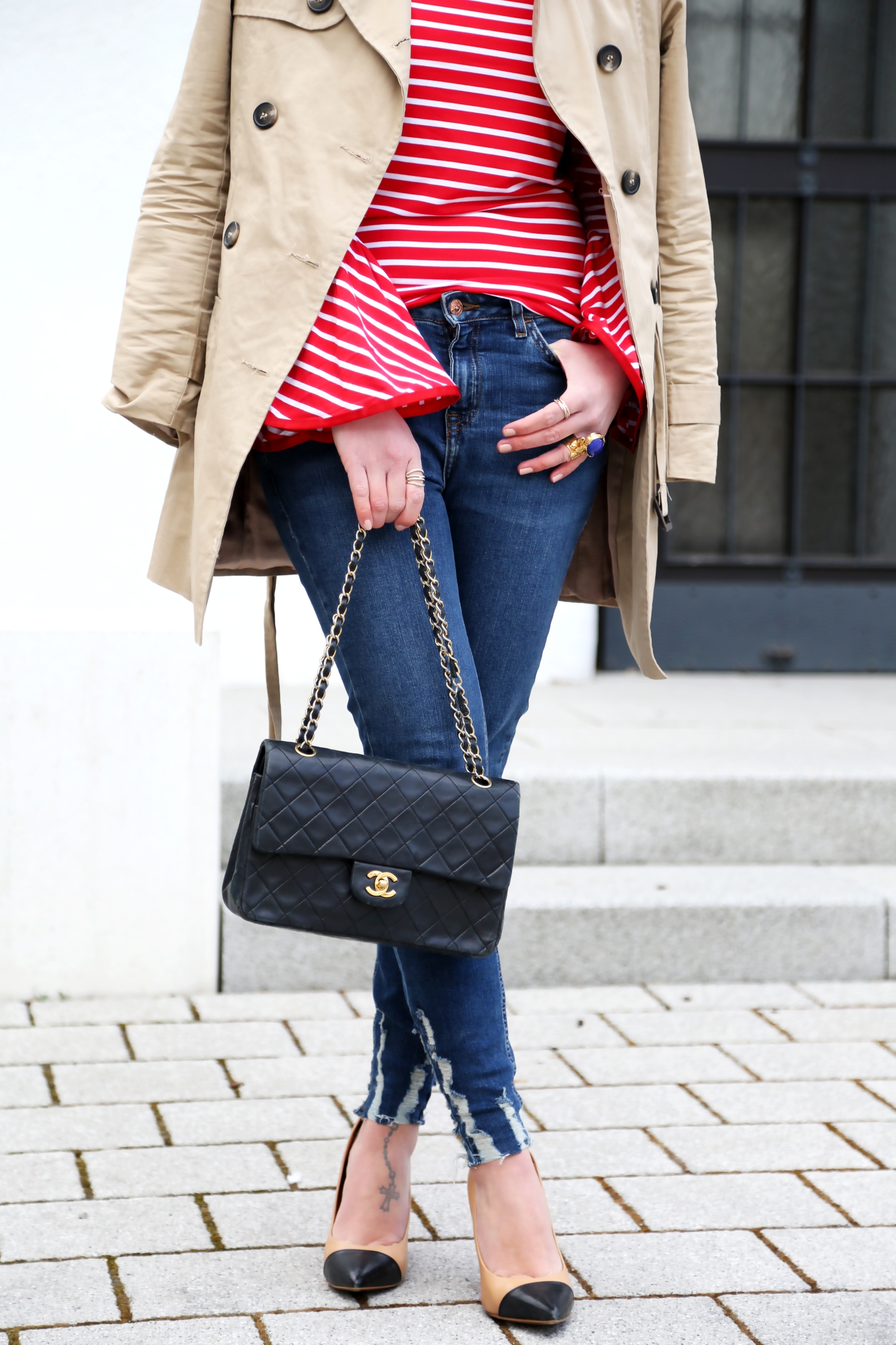 outfit-trenchcoat-zara-chanel-bag-spring-frühjahr-look