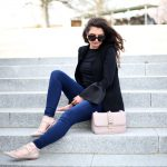 outfit: rockstud flats and bag