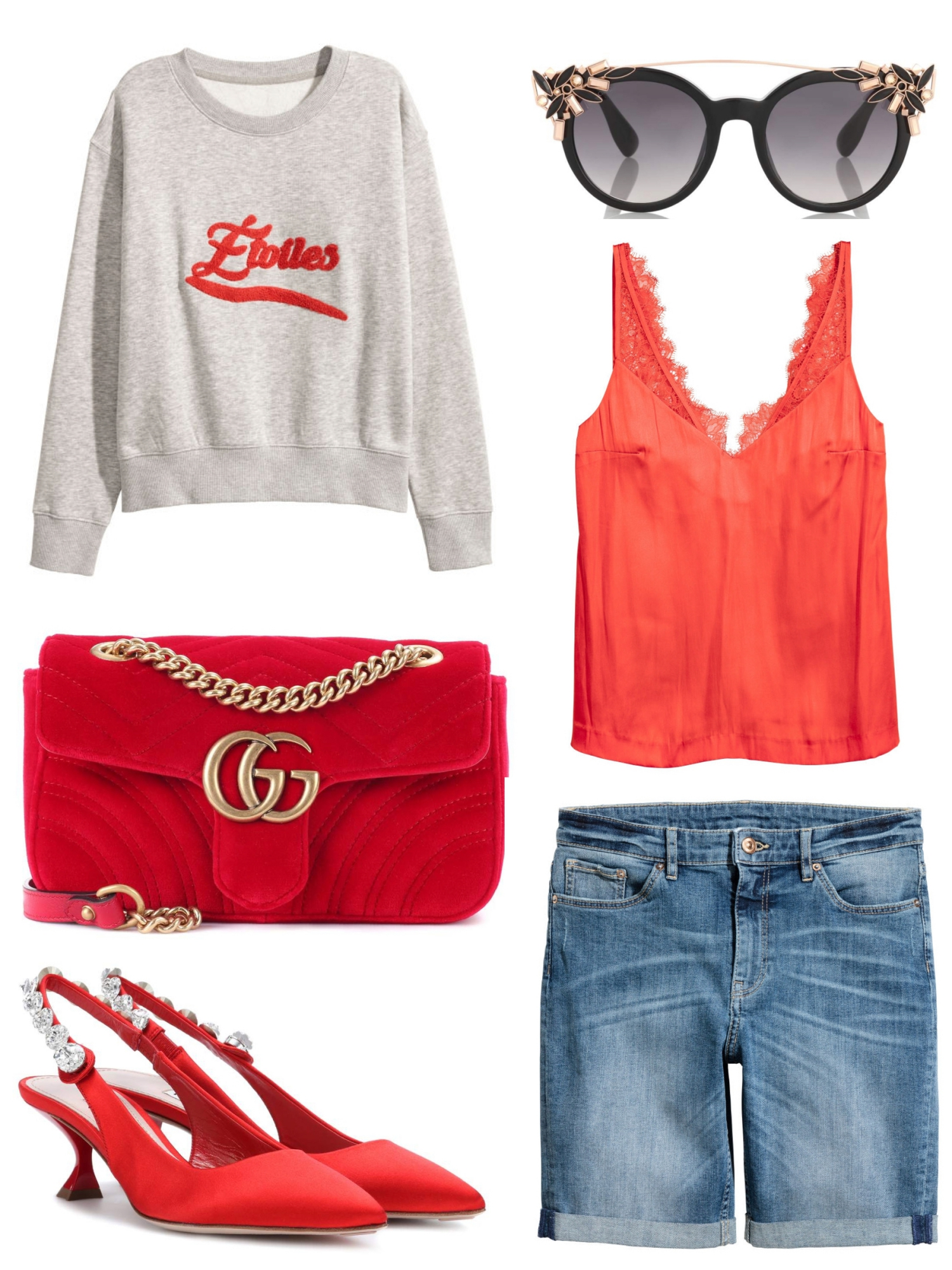 Outfit Inspiration: Color Combo Of Blue & Red