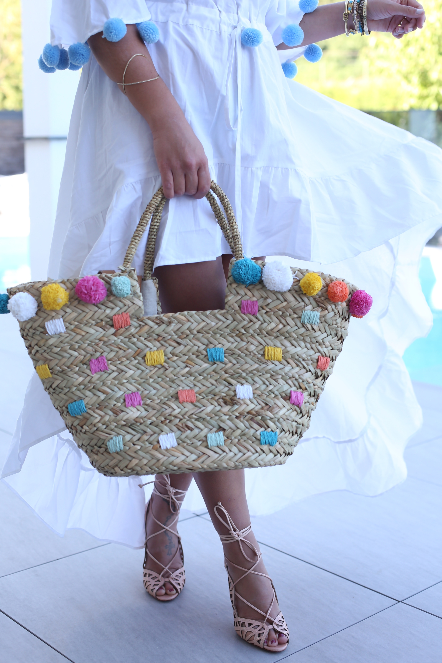 outfit: my favorite pom-pom dress for summer | FashionHippieLoves ...
